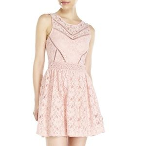 CITY TRIANGLES LACE FIT & FLARE DRESS